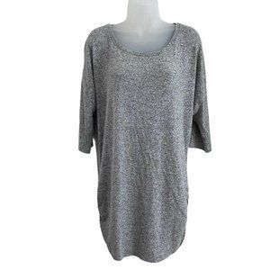 Express Large Tunic Top Dolman 3/4 Sleeve Soft